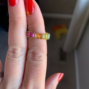 Bauble Bar multicolor gem pinky ring
